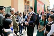 Chủ tịch Nước thăm, chúc tết cán bộ, chiến sĩ Đồn Biên phòng Rờ Kơi (tỉnh Kon Tum)