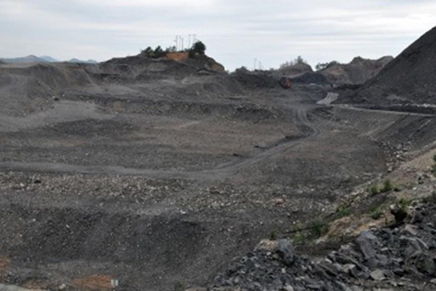 Diện tích đất Công ty TNHH MTV 397 sử dụng ngoài ranh giới tỉnh cho thuê đất khoảng 53ha tại khu vực mỏ Nam Tràng Bạch. Ảnh: BQN