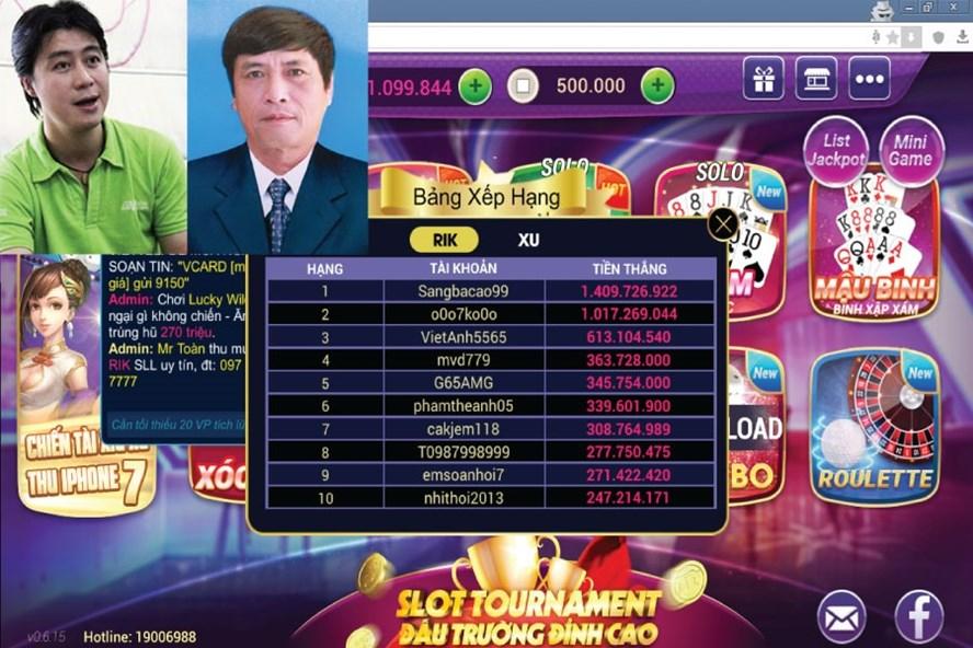 Ông Nguyễn Thanh Hóa liên quan đến cổng đánh bạc trực tuyến Rikvip, Tip.clup.