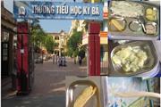 """Thái Bình: Miếng chả cho bữa ăn trưa của học sinh """"mỏng như tờ giấy"""""""