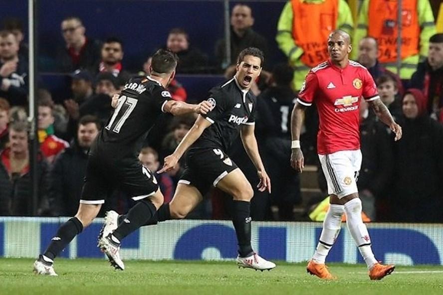 Ben Yedder chỉ cần 87 giây từ khi vào sân để trừng phạt Man Utd.