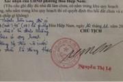 Cán bộ giả chữ ký của Chủ tịch UBND phường nhằm hợp thức hóa nhà trái phép