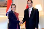 Chủ tịch Nước Trần Đại Quang tiếp Chủ tịch Hạ viện Ấn Độ
