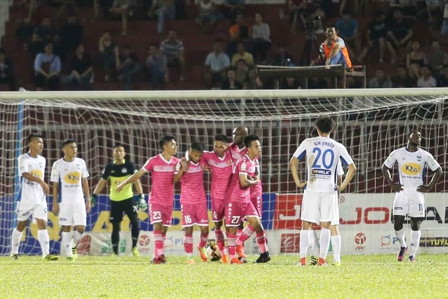CLB Sài Gòn có chiến thắng đầu tiên ở mùa giải năm nay. Ảnh: G.L