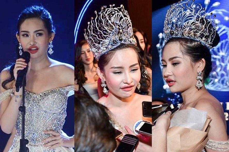 Vương miện Hoa hậu Đại dương 2017 vẫn chưa bị tước theo yêu cầu của Bộ Văn hóa - Thể thao và Du lịch dù được cho rằng phạm luật (ảnh:LDO).
