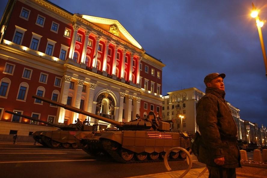 Lễ duyệt binh mừng ngày Chiến thắng Phát xít sẽ được tổ chức vào ngày 9.5 tại Quảng trường Đỏ, Mátxcơva, Nga. Ảnh: Reuters