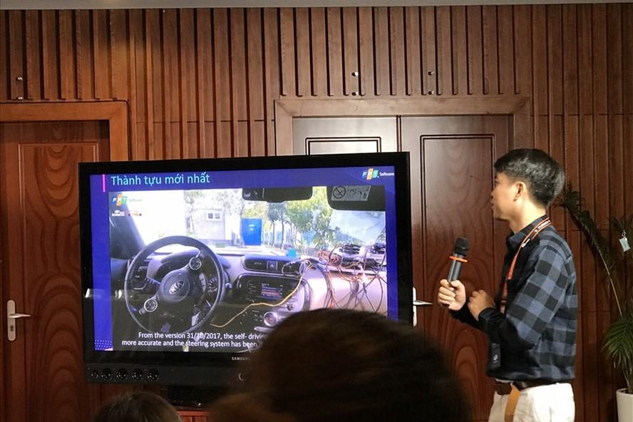 Xe tự lái động cơ xăng trong khuôn viên của FPT có nhiều cải tiến vượt trội.