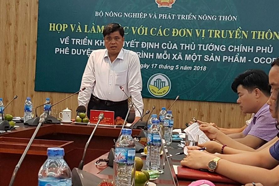 Theo Thứ trưởng Bộ NNPTNT Trần Thanh Nam phát biểu tại cuộc hop. Ảnh: Kh.V