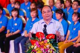 Thủ tướng phát biểu tại buổi đối thoại với 1.000 công nhân khu vực phía Bắc