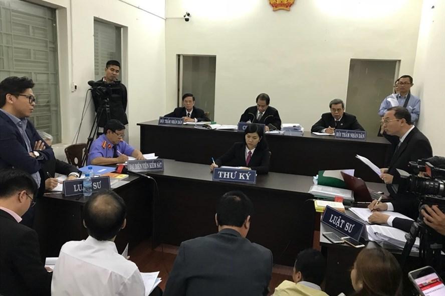 Tòa án nhân dân TPHCM Xử vụ taxi Vinasun kiện Grab hồi tháng 2 vừa qua.