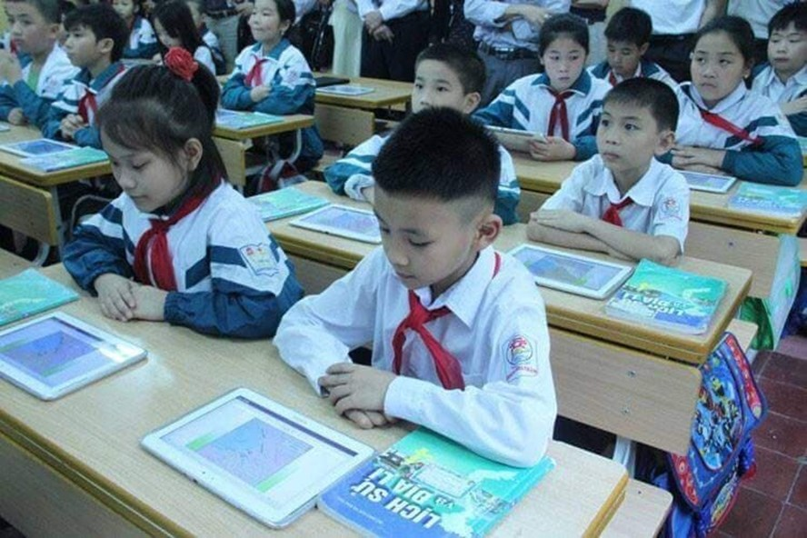 Một tiết hoc của học sinh trường Tiểu học Hoàng Hoa Thám.