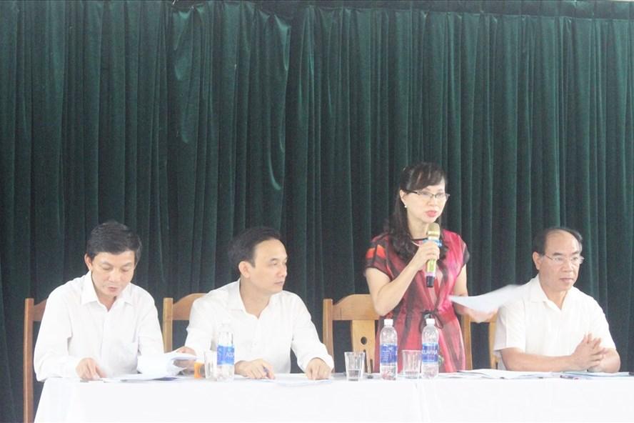 Bà Nguyễn Thị Kim Phụng - Vụ trưởng Vụ Giáo dục đại học và đại diện Bộ GDĐT thông tin về khâu tổ chức kỳ thi THPT Quốc gia 2018.