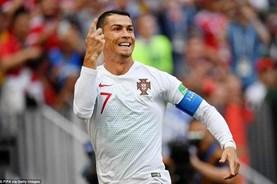 Cận cảnh Ronaldo ăn mừng bàn thắng thứ 4 tại World Cup 2018