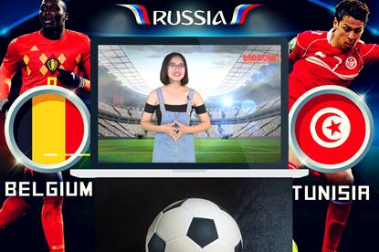 """Trước giờ bóng lăn: Bầy """"quỷ đỏ"""" Bỉ sẽ giật """"vé sớm"""" từ tay Tunisia?"""
