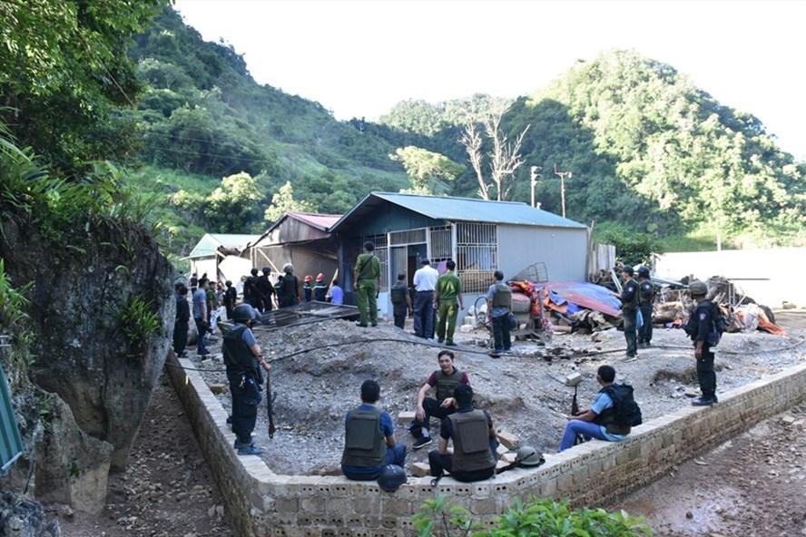 Khu nhà của trùm ma túy khét tiếng ở Lóng Luông. Ảnh: Huy Hà