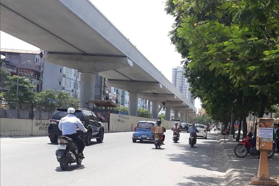 Dự kiến, năm 2020 phần đường trên cao đoạn từ Nhổn - Cầu Giấy có thể đưa vào sử dụng. Ảnh minh hoạ: Trần Vương