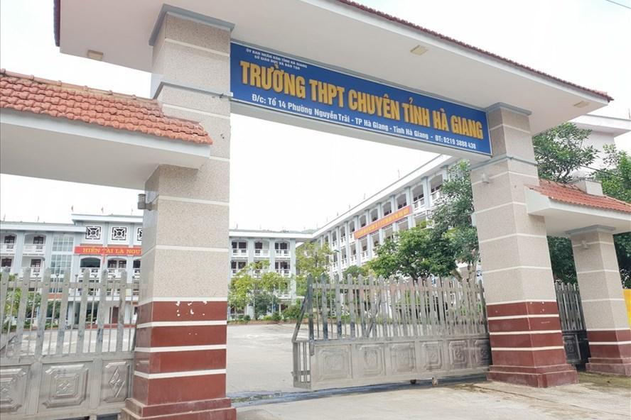 Trường THPT Chuyên Hà Giang. Ảnh: HN