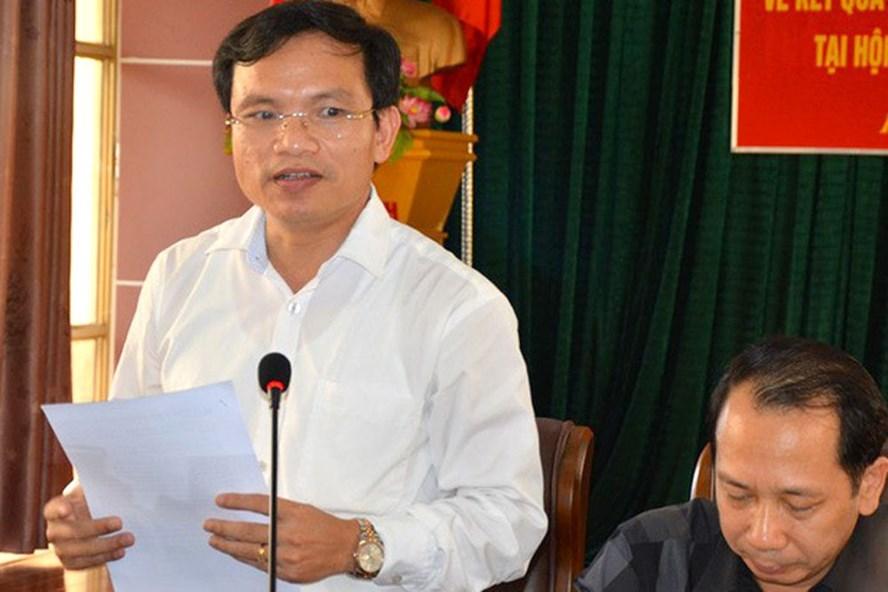 Cục trưởng Quản lý Chất lượng giáo dục Mai Văn Trinh chủ trì buổi họp báo.