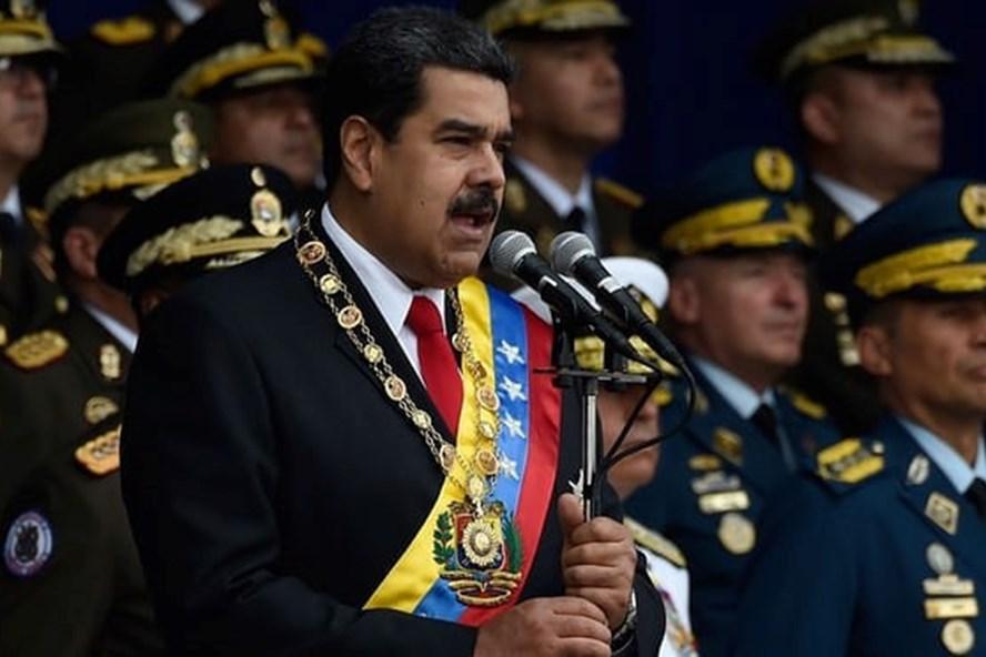 Tổng thống Nicolas Maduro thoát chết trong vụ ám sát bất thành. Ảnh: AP