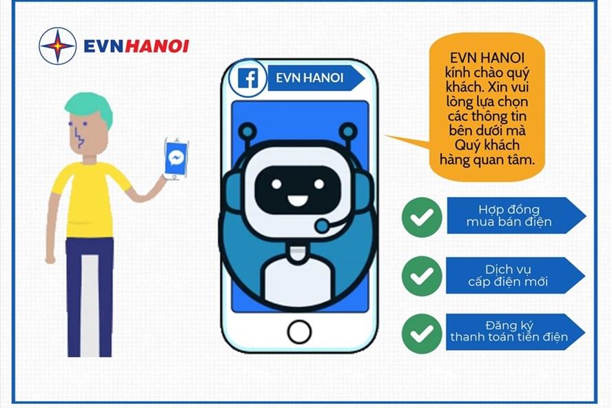 EVN HANOI tiếp tục nâng cấp phiên bản Chatbot (Chatbot 2) với nhiều tiện ích và tính năng mới, đảm bảo mang đến sự phục vụ tốt hơn cho khách hàng sử dụng điện. Ảnh: Thu Trang