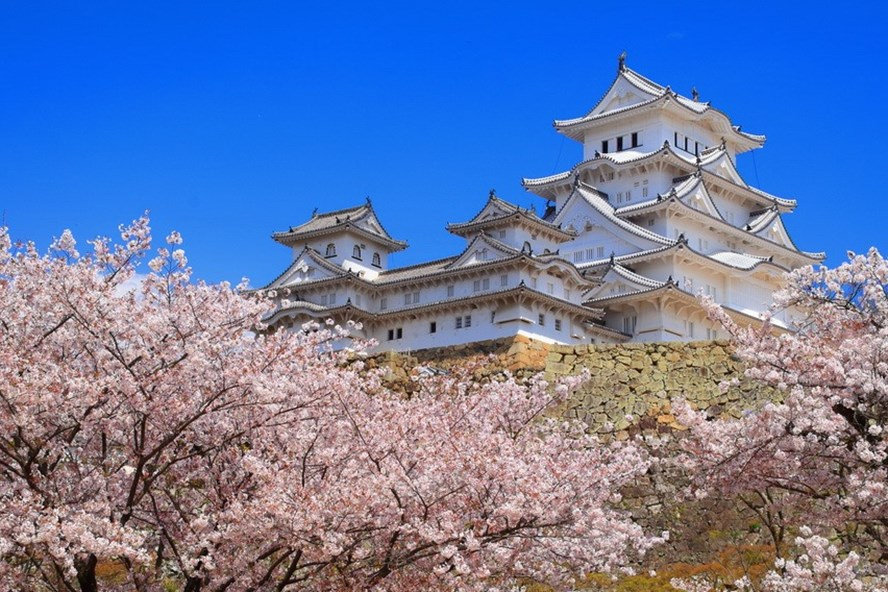 Lâu đài Himeji (1619 - thành phố Hyogo). Ảnh: Internet