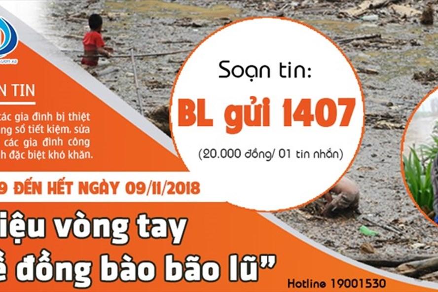 Soạn BL gửi 1407 để ủng hộ 20.000 đồng tới đồng bào vùng lũ.