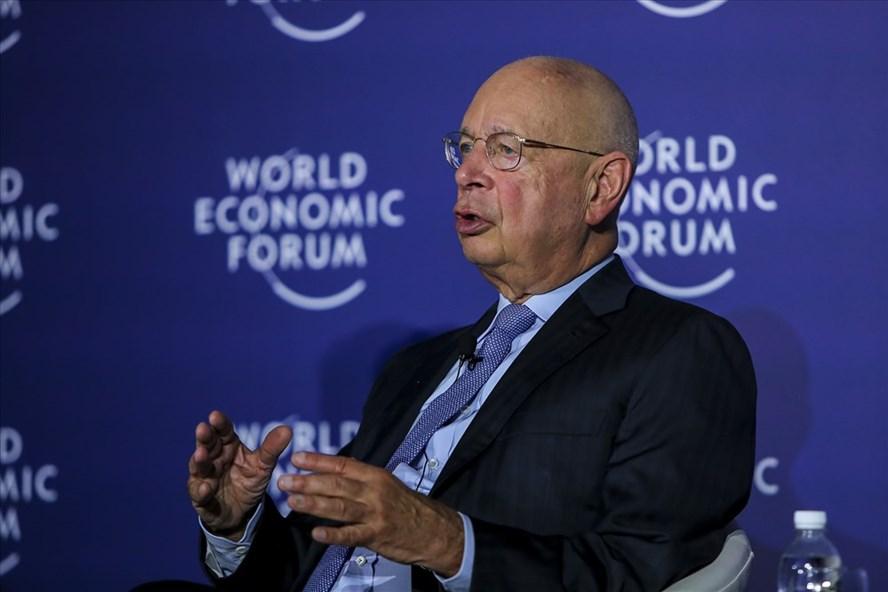 Giáo sư Klaus Schwab - Người sáng lập và Chủ tịch Điều hành Diễn đàn Kinh tế Thế giới (WEF). Ảnh: Hồng.N