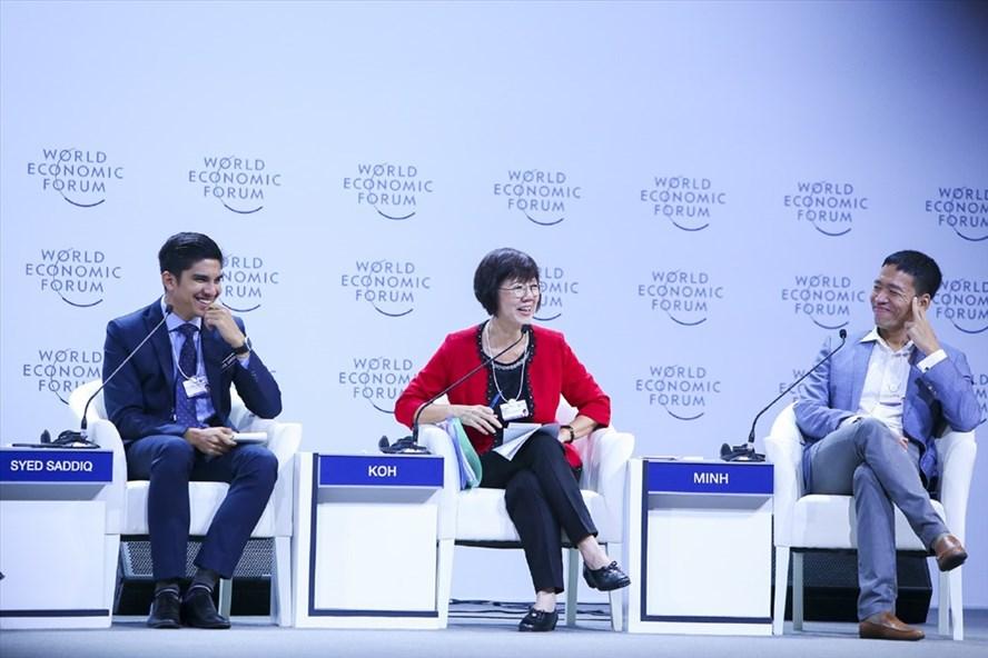 Phiên Diễn đàn mở trong khuôn khổ Hội nghị WEF ASEAN 2018. Ảnh: HỒNG NGUYỄN