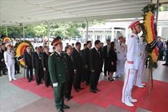 1.500 đoàn trong nước, quốc tế đã đến viếng Chủ tịch Nước Trần Đại Quang