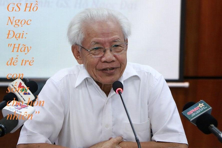 """GS Hồ Ngọc Đại lên tiếng trước những phản biện cuốn sách """"Tiếng Việt 1-Công nghệ giáo dục."""