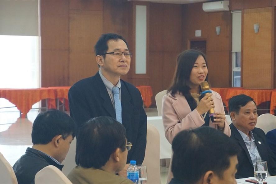 Đại diện doanh nghiệp FDI phát biểu ý kiến tại hội nghị. Ảnh: QĐ