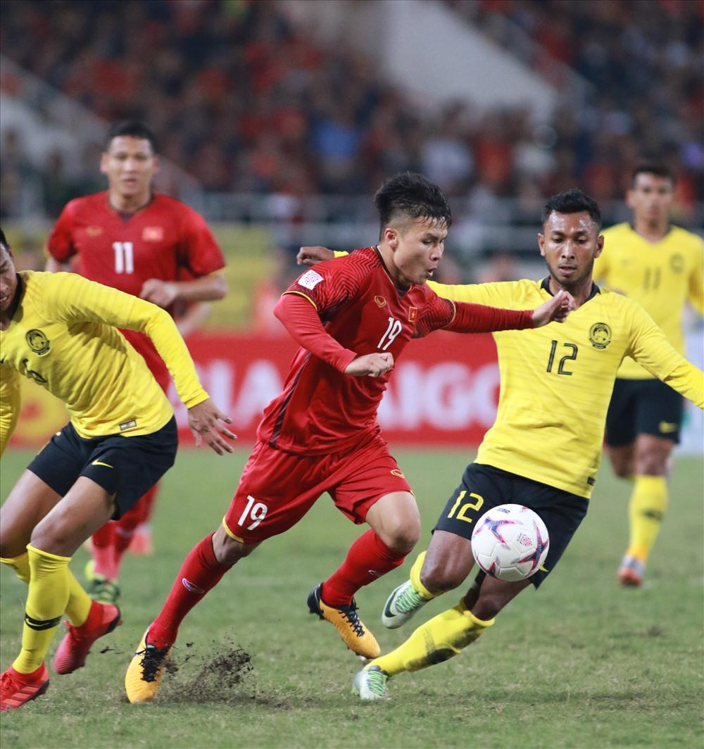 Sau chiến thắng 6-0 mới đây trước Sri Lanka ở trận giao hữu, tuyển Malaysia đang rất tự tin và đặt mục tiêu giành 3 điểm ở Mỹ Đình. Ảnh: H.A