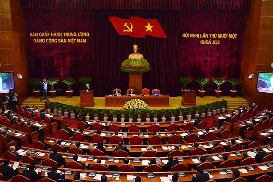 Hội nghị lần thứ 11 Ban Chấp hành Trung ương Đảng khóa XII đã bế mạc sau 6 ngày làm việc. Ảnh: VGP.