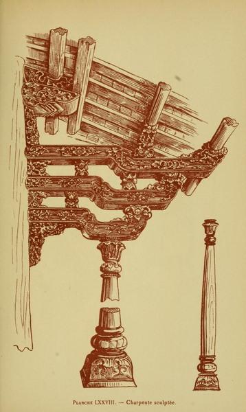 Chạm khắc trên khung sườn cung điện.