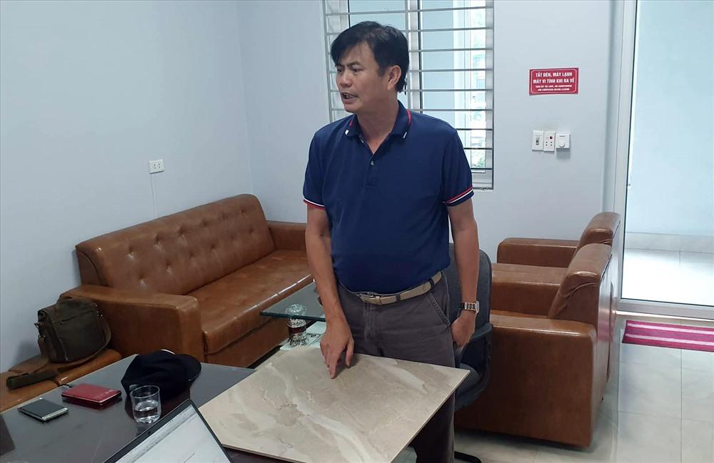 Ông Nguyễn Đức Truyền trong buổi làm việc với PV Báo Lao Động. Ảnh LN.