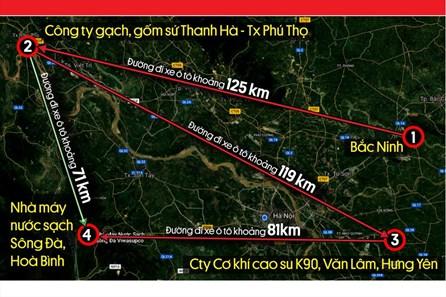 Infographic: Lộ trình 320km của nhóm đối tượng đổ dầu bẩn vào nước sông Đà