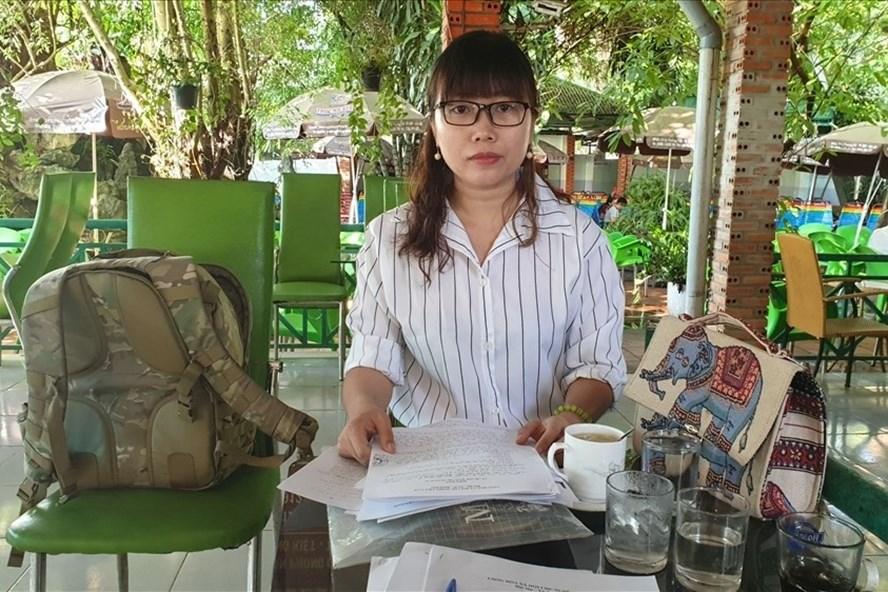 Bà Lê Thị Thu Nhung  vừa thắng kiện  Nhà khách Tỉnh ủy Đắk Lắk. Ảnh: HL
