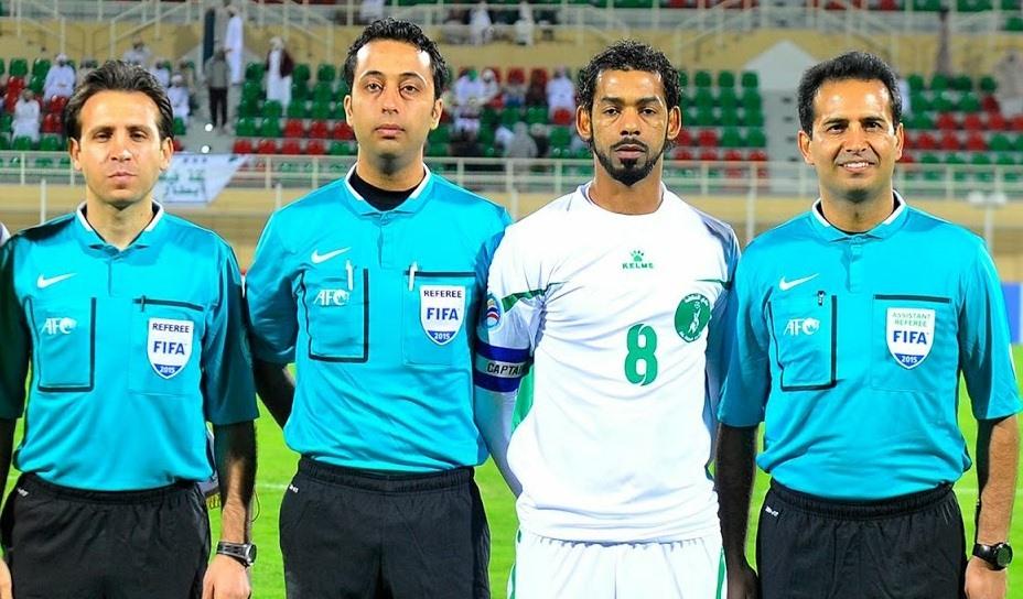 Trọng tài Mooud Bonyadi Fard (thứ 2 từ trái sang) sẽ điều khiển trận đấu giữa ĐT Việt Nam và Malaysia vào ngày 10.10 tới đây. Ảnh: AFC