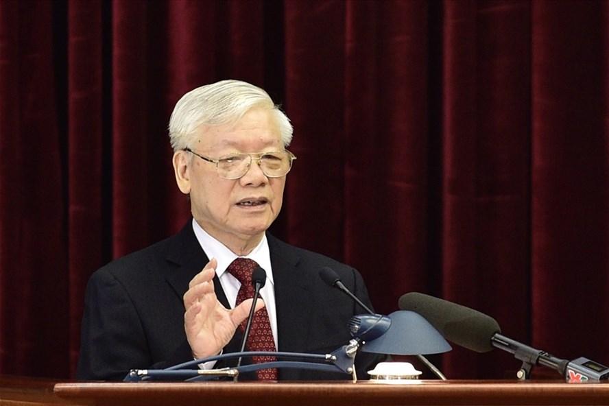 Tổng Bí thư, Chủ tịch Nước Nguyễn Phú Trọng phát biểu tại Hội nghị.  Ảnh: VGP/Nhật Bắc.