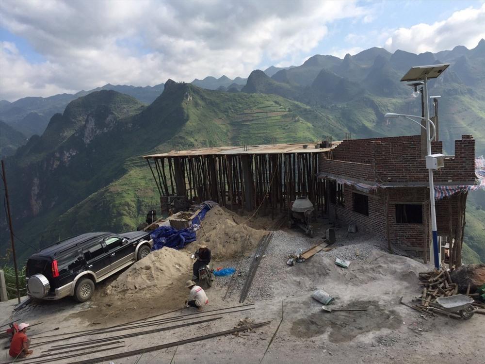 Theo hình ảnh được bà Vũ Ngọc Ánh đăng tải trên zalo thì công trình đang trong quá trình xây dựng từ tháng 10.