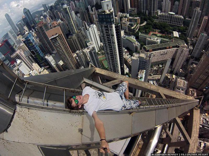Một điểm đến khác của Hồng Kông trở thành bàn cược của thanh niên này. Ảnh: Alexander Remnev via Facebook.