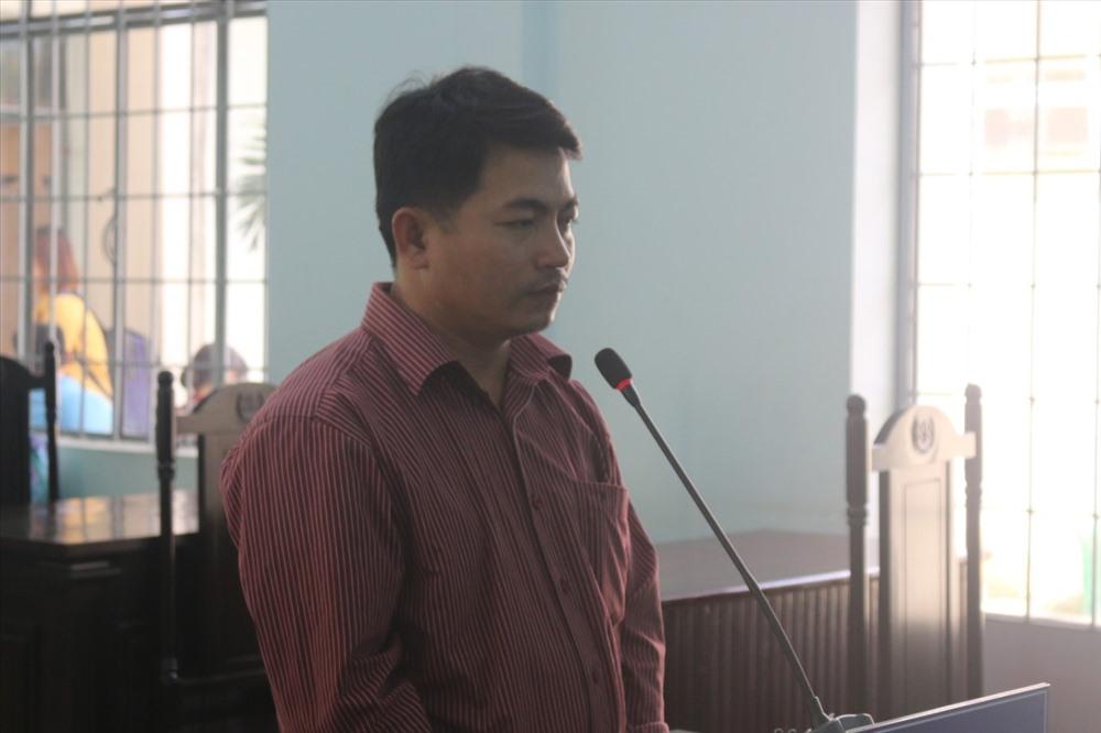Bị cáo Bùi Văn Sáng tại phiên toà ngày 1.11