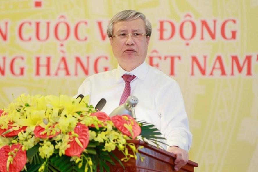 Ủy viên Bộ Chính trị, Thường trực Ban Bí thư Trần Quốc Vượng phát biểu - Ảnh: Quang Vinh.