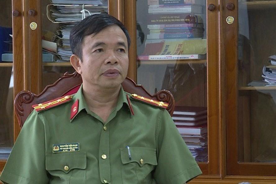 Đại tá Nguyễn Tiến Nam, Phó Giám đốc, Thủ trưởng Cơ quan An ninh điều tra Công an Hà Tĩnh.