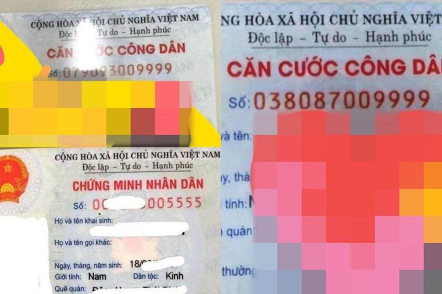 Những chiếc thẻ Căn cước công dân sở hữu dãy số Vip được các cò số làm thành công mang ra giới thiệu, quảng cáo tràn lan trên mạng xã hội.