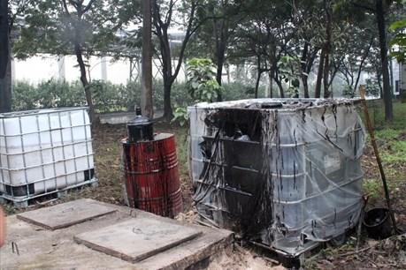 7 khối dầu tràn của Cty Xi măng Chinfon Hải Phòng do lỗi kỹ thuật?