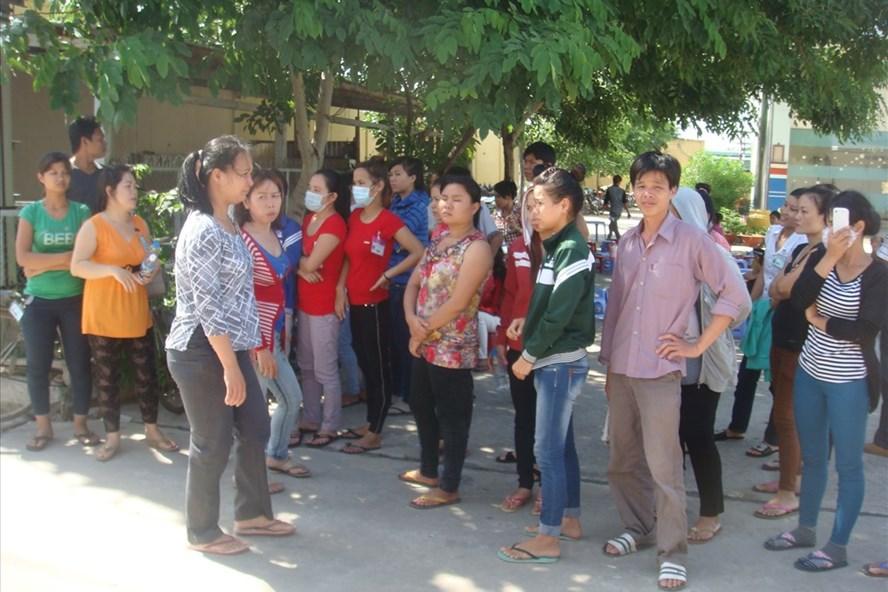 Một cuộc đình công của CNLĐ tại Huyện Bình Chánh. Ảnh Nam Dương
