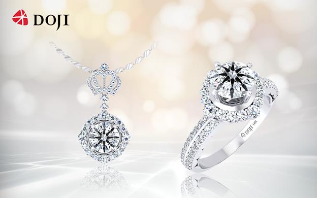 Với sự tài hoa, sáng tạo, nghệ nhân kim hoàn DOJI khéo léo đặt kim cương vào từng thiết kế phù hợp tạo nên những tuyệt tác trang sức hoàn mỹ như Bộ sưu tập Queen of Heart ấn tượng với họa tiết vương miện thể hiện quyền lực phái đẹp.