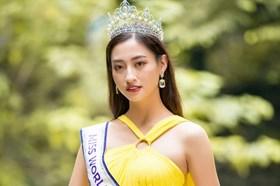 """Hoa hậu Lương Thuỳ Linh """"khoe"""" Tiếng Anh trước thềm Miss World 2019"""