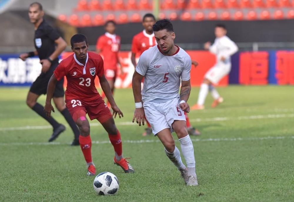 Tuyển Philippines cũng có chiến thắng 2-1 trước Maldives sau lượt trận tối 14.11. Ảnh: FIFA